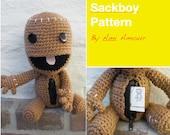 Sackboy Pattern Crochet Amigurumi Open Mouth Zipper