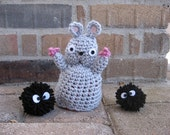 2 Toys in 1 - Reversible Bou plush Baby and Mouse amigurumi doll