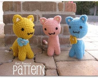 Cat Pattern Kitty Amigurumi Crochet PDF