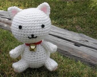 Fortune Cat pattern Maneki Neko amigurumi crochet