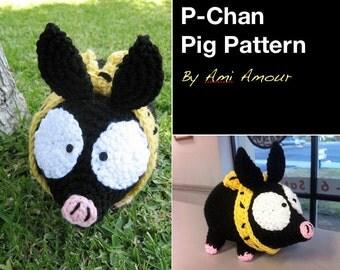 Pchan Pig Pattern Crochet Amigurumi