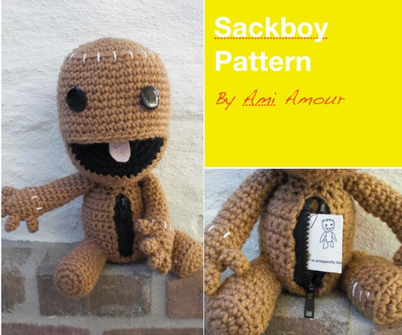 Sackboy Crochet Pattern Open Mouth Zipper