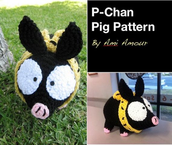 Cerdo de Pchan patrón ganchillo Amigurumi por amiamour en Etsy