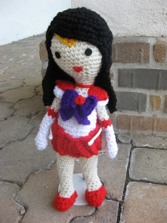 Sailor Mars Amigurumi Doll Crochet