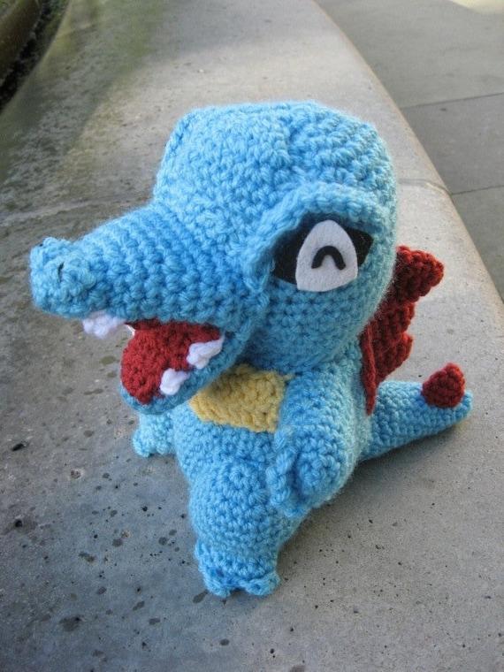 Amigurumi Patterns Pokemon : Totodile amigurumi doll