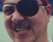 ARR MATEY Piratey good leather eyepatch.  Shiver me timbers