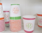Party DIY Printables- Personalized Paper Cup Wraps - Your colors your way Party Cup Wrappers