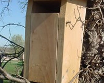 Bluebird Bird House, slotted entrance, Sparrow Resistant