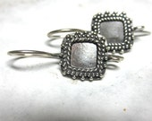 MS SALE Square Granulated Earwires 2 prs Bali Sterling Silver Fair Trade