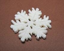 MS BOGO SALE Snowflake Carved Bone 35mm Bali Fair Trade
