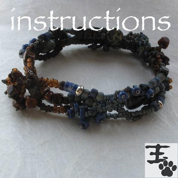 Freeform Peyote Stitch Bangle Bracelet PDF Instructions