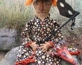 Primitive Vintage Witch Doll Pattern-SPPO Masquerade Merry Ann