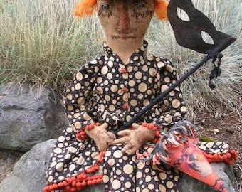 Primitive Vintage Witch Doll Pattern-SPPO Masquerade Merry Ann