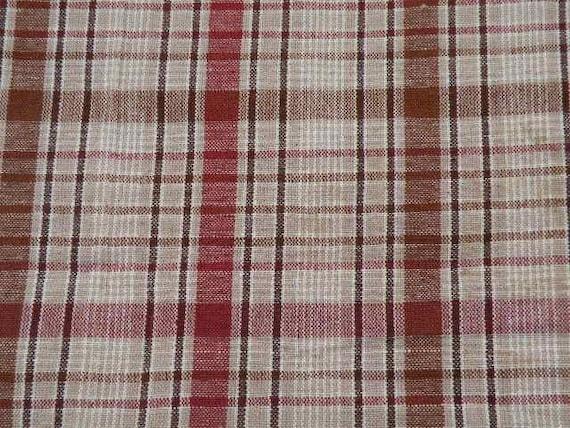 Plaid Homespun Fabric For Primitive Gingers & Dolls/Table Runners/SPPO-Plaid Homespun