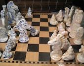 MADE TO ORDER custom color designer nautical chess set