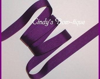 Regal Purple Grosgrain Ribbon 6 yards 7/8 inch wide Offray Color 470 cbseveneight
