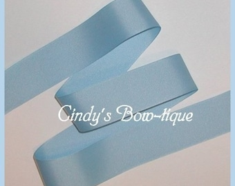 Pastel Blue Grosgrain Ribbon Light Offray 5y 1 1/2 wide cbonefive