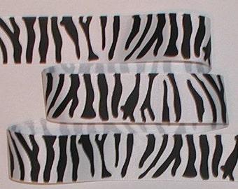 Zebra Ribbon Black White Grosgrain 8 yards 1 1/2 inch wide Stripes cbonefive