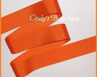 Orange Grosgrain Ribbon 5 yards 1 1/2 inch Offray Made in USA cbonefive