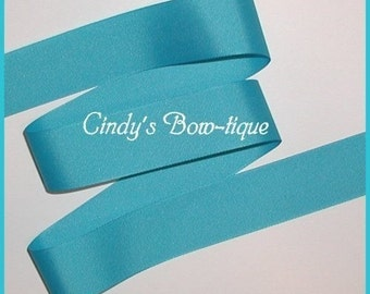 Turquoise Grosgrain Ribbon Offray 5 yards 1 1/2 inch wide cbonefive