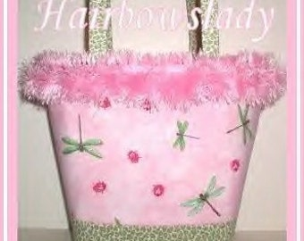 Pink Dragonfly Purse Diaper Bag Large Tote Ladybug Sage Green Leopard