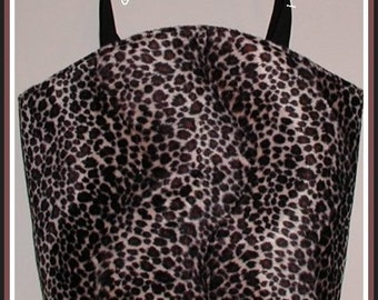 Leopard Diaper Bag Tote Extra Large Tall Cosmetic Pouch Tissues Case Cover