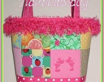 Ladybug Tote Diaper Bag Polka Dot Roses Pink Mickey Minnie Made in USA