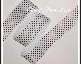 Black White Grosgrain Ribbon Confetti Dots Dot 5 yards 1 1/2 wide cbonefive