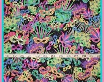 Fabric Mardi Gra Masks Masquerade Mask Pink Purple Green LIme Yellow Blue Black Mardigras
