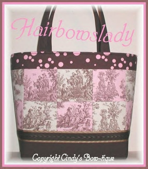 Pink Brown Diaper Bag Tote Wipes Case Changing Pad Polka Dots Extra Tall Weekender