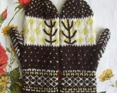 PATTERN fancy branches mittens
