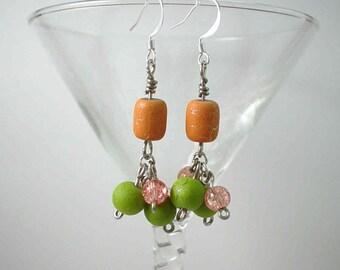 Little Green Apples Fall Harvest Earrings