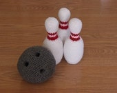 PDF CROCHET PATTERN - Bowling Set