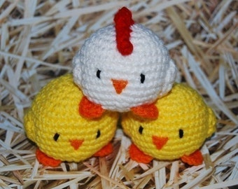 PDF CROCHET PATTERN - Juggling Chickens
