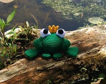 PDF CROCHET PATTERN - Frog Prince