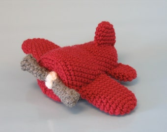PDF CROCHET PATTERN - Soft Toy Airplane