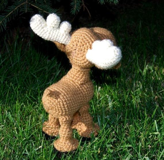 Moose Knitting Pattern : PDF CROCHET PATTERN - Moose Wayne from LittleRavenFiberArts on Etsy Studio