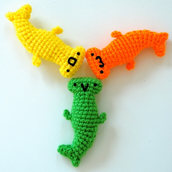 3 Pocket Hammerhead Sharks - Citrus
