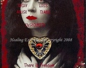 CHAINS Of THE PAST altered art collage therapy abuse trauma ACeO ATc PRInT