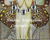 IF ONLY altered art faith healing wings recovery survivor therapy journey collage atc aceo print