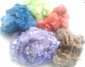 Felters stash kit  Tunis\/Leicester  custom dyed fleece 2 ozs for felting or spinning FS102  Wools