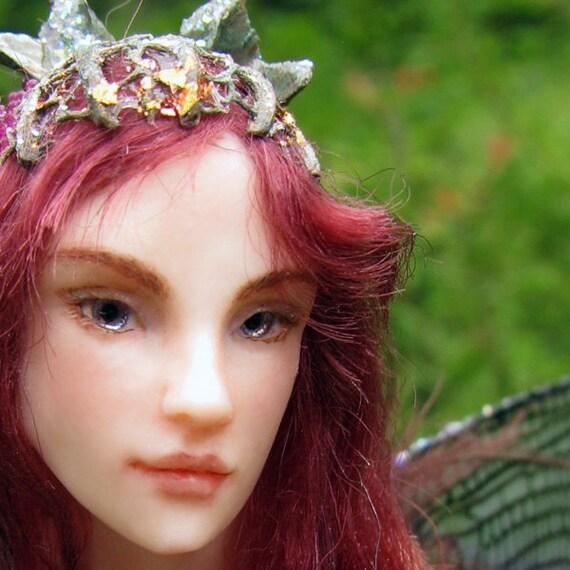 Fairy Baby on Nest Hand-sculpted OOAK Art Doll ADO TEAM. €