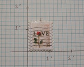 Love stamp with rose RESERVED FOR CAFFEINATEDBIRD