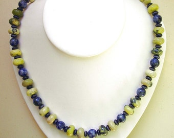 TURQUOISE And SODALITE SET--Magnetic Clasp