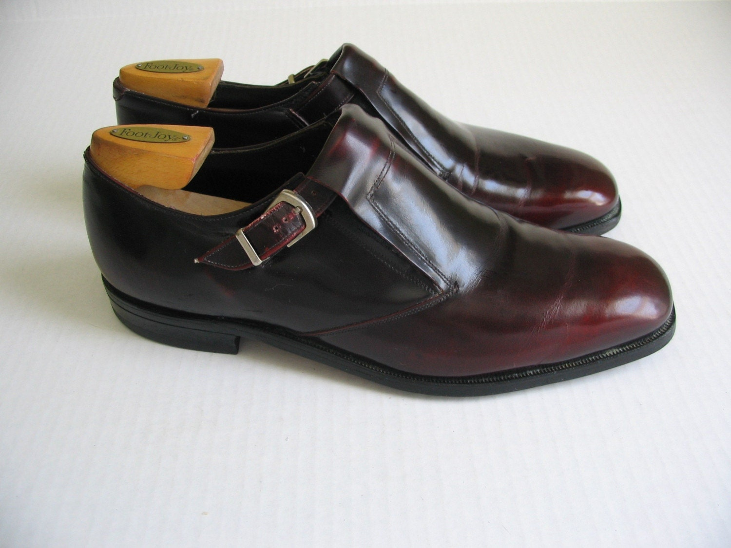 vintage johnston and murphy oxblood mens dress shoes 11 5 d b