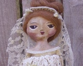 Primitive Folk Art Cloth and Clay Art Doll Quarterly
