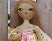 Primitive Folk Art Doll Quilt top Skirt RESERVED FOR KeytothePassed Payment 1