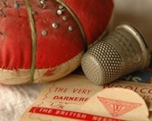 SPECIAL SALE - Vintage Pin-cushion and Thimble -- 5x7 print
