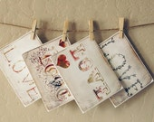 Love Letter Cards -- set of 4