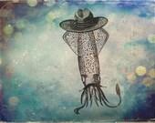 Sammy the Squid -- 8x10 print